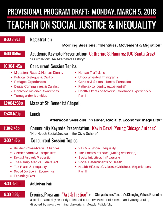Teach-In Schedule