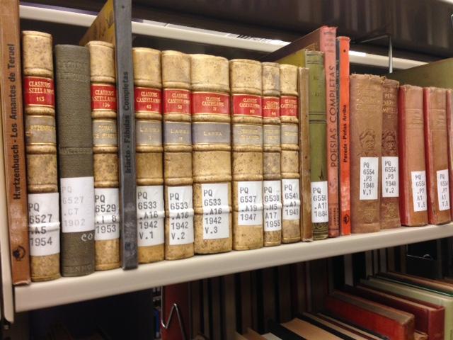 Rare books on Spanish literature in Burke Library