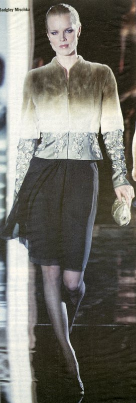 Runway image of Badgley Mischka skirt and jacket