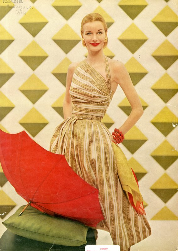 Editorial image of McCardell dress
