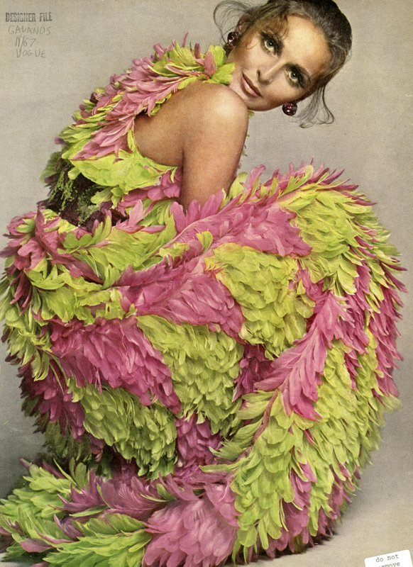 Editorial image of dress by James Galanos