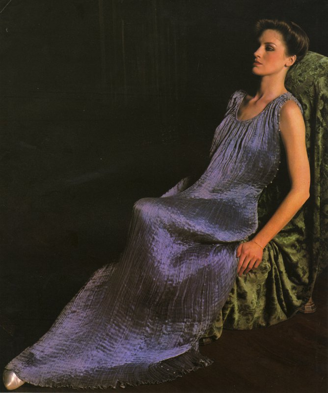 Editorial image of Fortuny dress