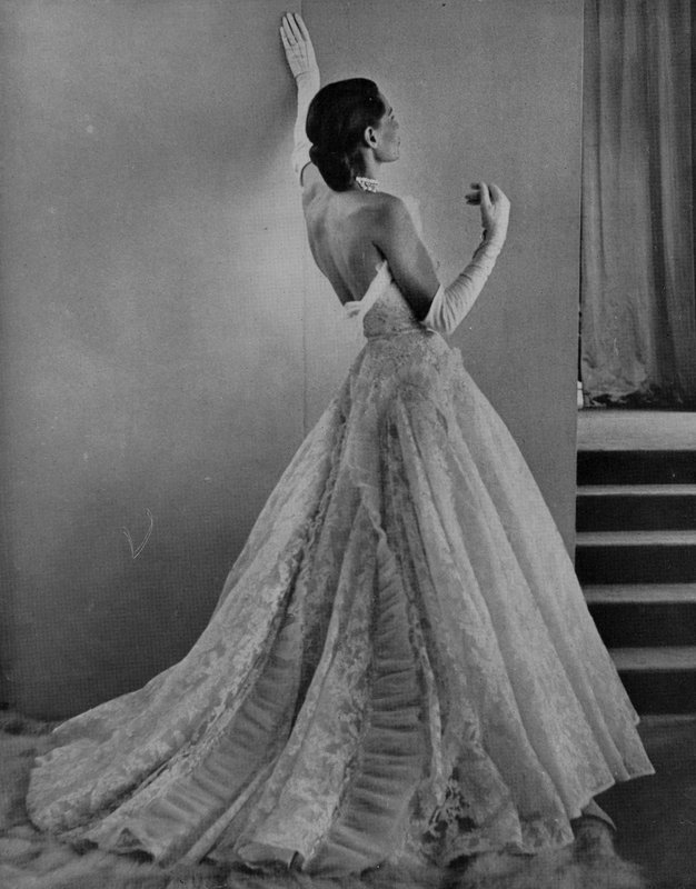 Editorial image of Paquin evening dress