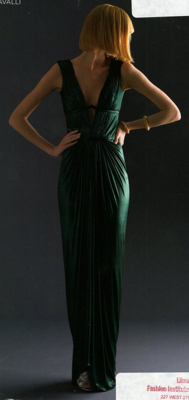 Editorial image of Robert Cavalli evening dress