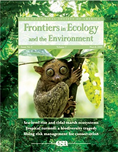 Cover of Frontiers in Ecology and the Environment