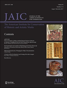 cover of Journal of the American Institute for Conservation