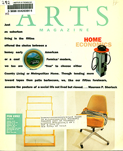 Cover of Arts Magazine