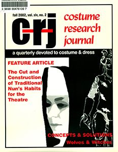 Cover of Costume Research Journal