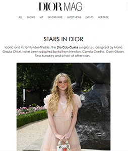 Screenshot of Dior Mag website