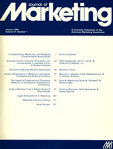 Cover of The Journal of Marketing