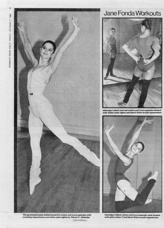 Image of Jane Fonda workouts, clothes by Theoni Aldredge