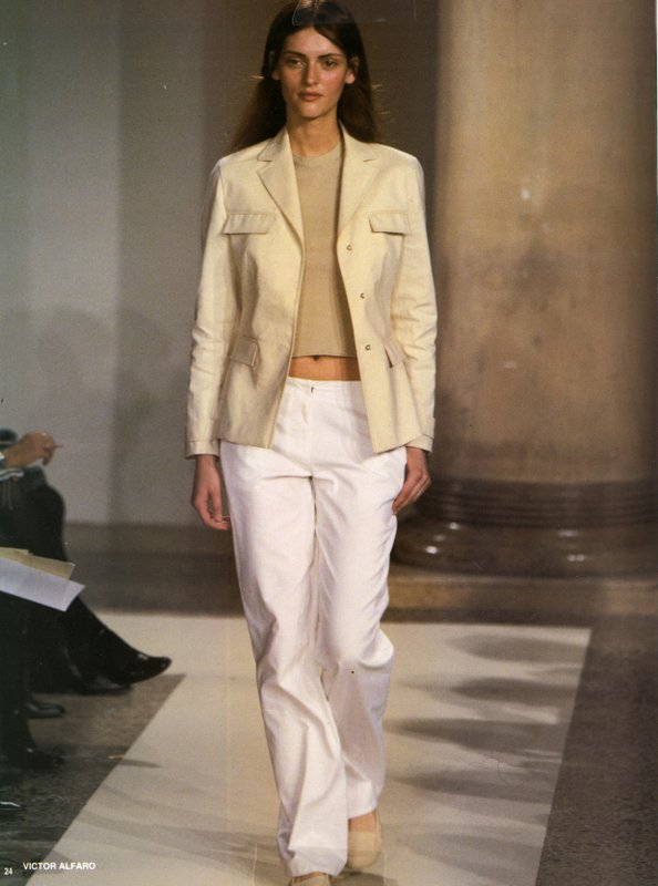 Image of Victor Alfaro jacket, top, and pants from runway show