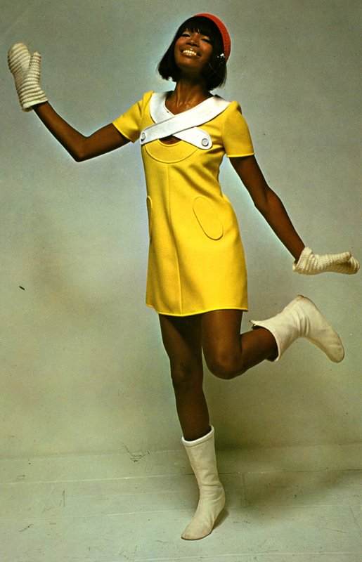 Andre Courreges yellow dress from 1969