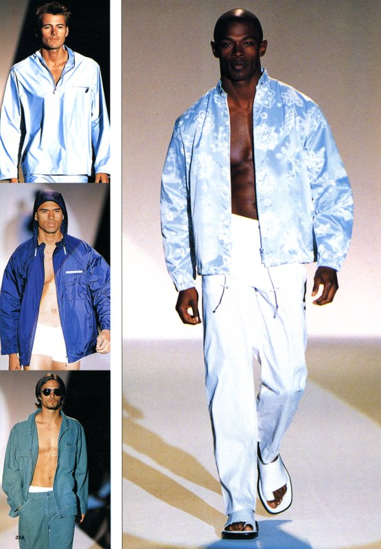 Runway images from Kenneth Cole Spring/Summer 2000 Menswear collection