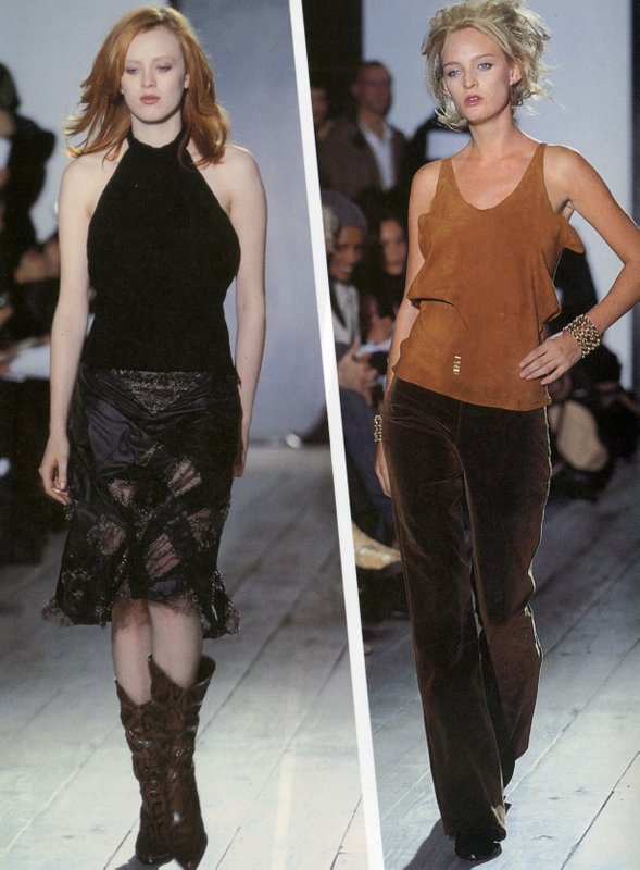 Runway images from Daryl K fall/winter 2000/2001 show