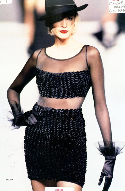 Runway image from Krizia Fall/Winter 1995 show