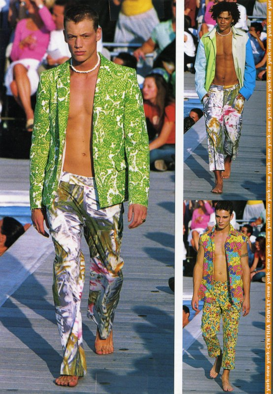 Runway images of Cynthia Rowley menswear