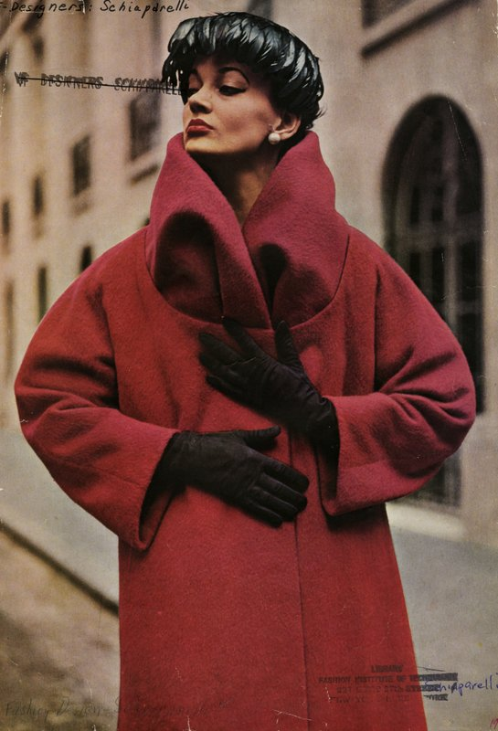 Red coat by Elsa Schiaparelli