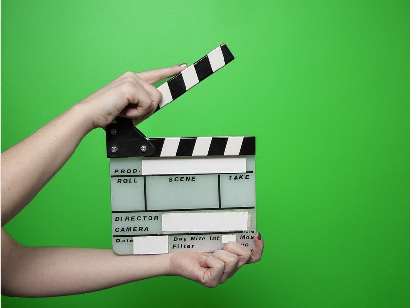 film scene clapperboard