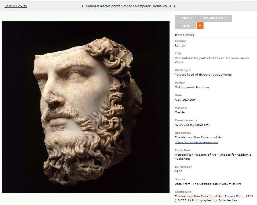screenshot of full size image from ARTstor