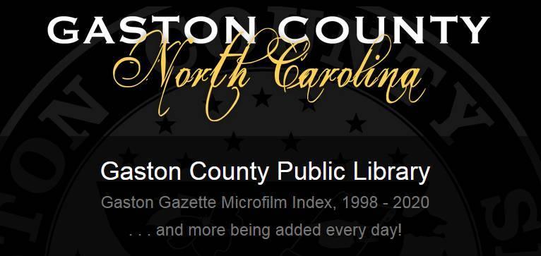 Gaston Gazette Microfilm Index