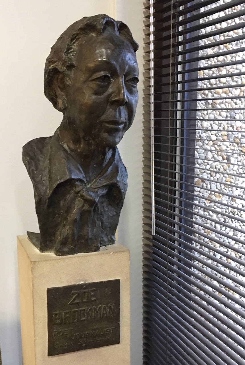 Zoe Brockman bust on display