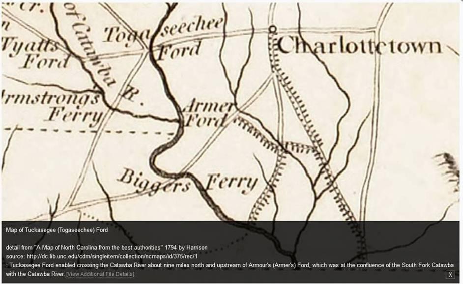 Tuckaseegee Ford map