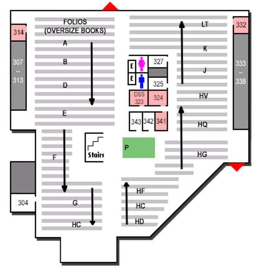 map of Ablah Library third floor