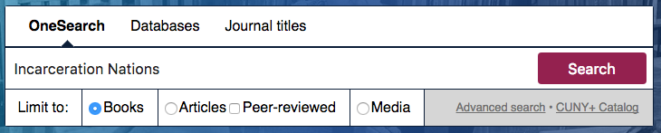 "Search box with ""incarceration nations"" as example title"