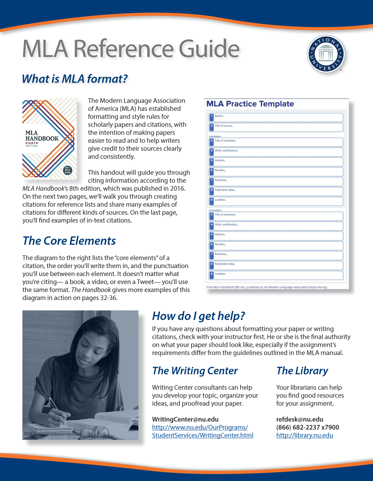 Image of the MLA Reference Guide