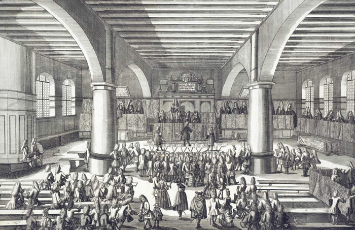 A doctoral disputation, held annually on the Feast of Saints Peter and Paul, in the Audtiorium Welferianum at the defunct University of Altdorf, from Amoenitates altdorfinae (1720