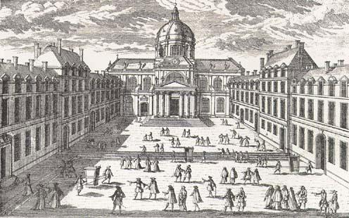 The Sorbonne in the Seventeenth Century, from Octave Gréard, Nos adieux à la vieille Sorbonne. Paris : Hachette, 1893.