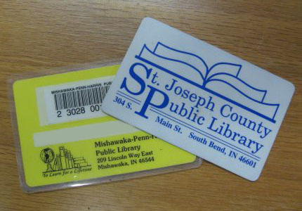 image of library cards