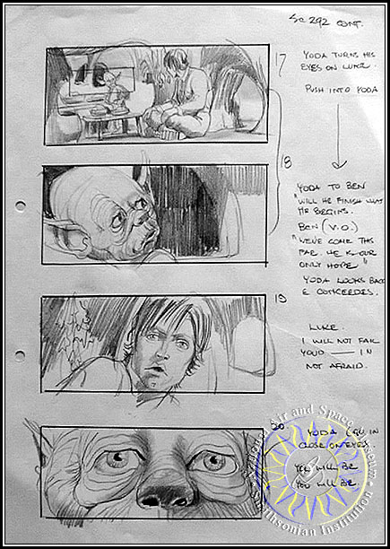 Example storyboard from The Empire Strikes Back