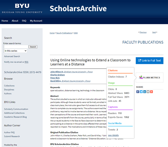 PlumX Metrics on ScholarsArchive