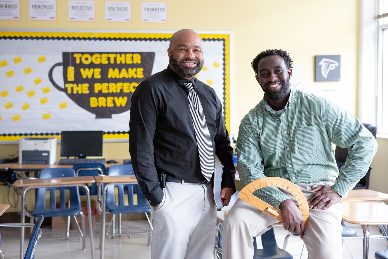 Two teachers.