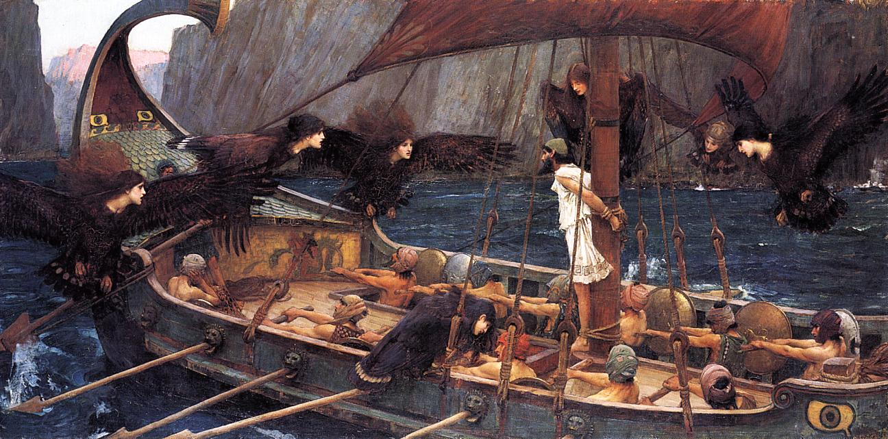 Ulysses (Odysseus) and the Siren by John William Waterhouse