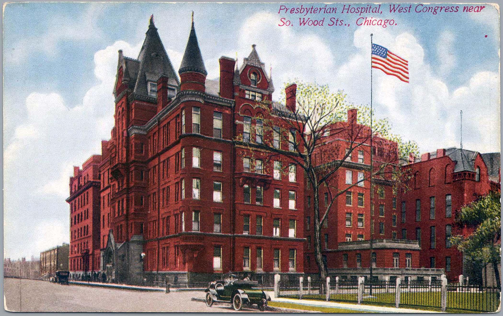 Postcard image of the Jones Building, corner of Congress and Wood, circa 1915
