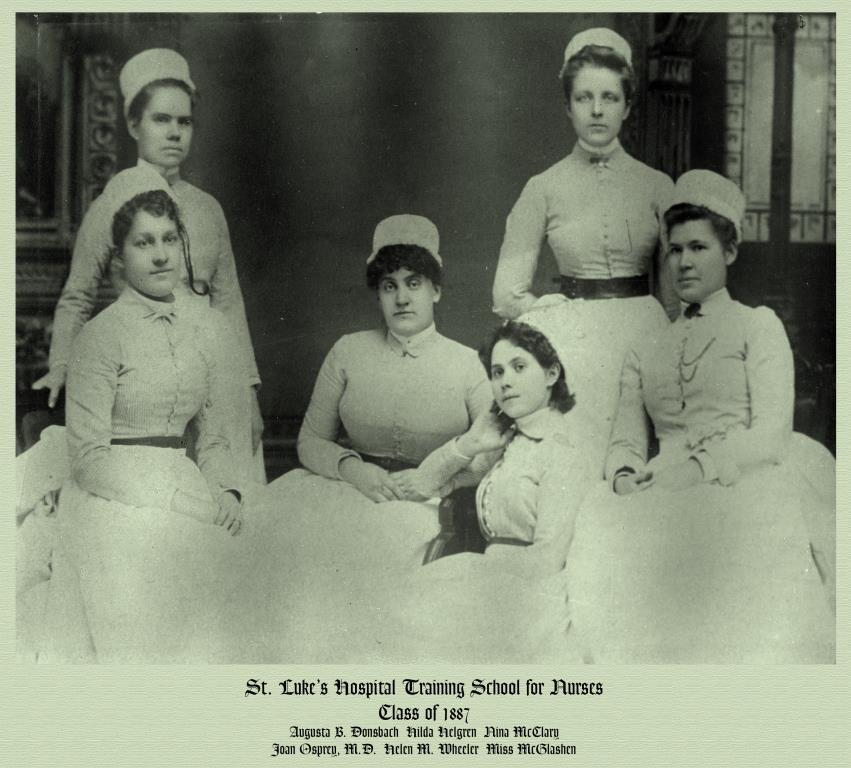 St. Luke's Hospital School of Nursing, class of 1887