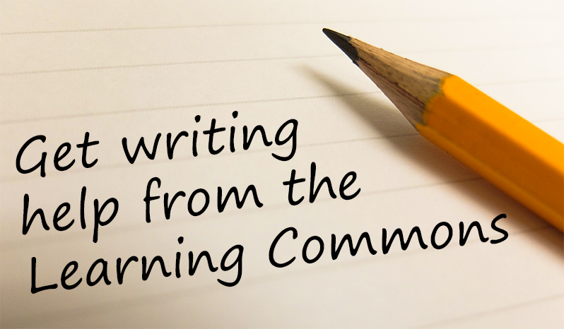 get writing help from the learning commons