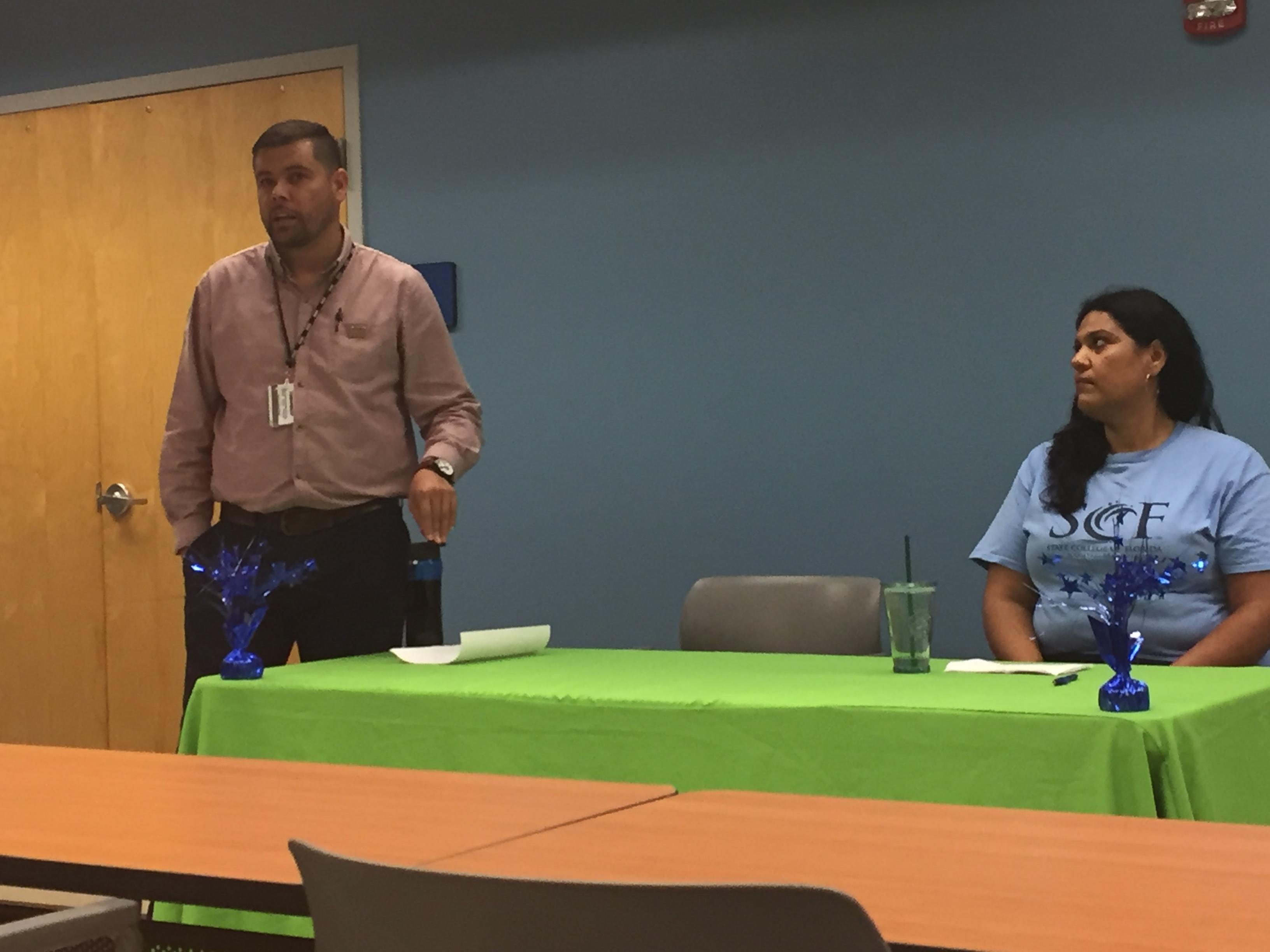 Tomas Carrillo talking in HIspanic panel