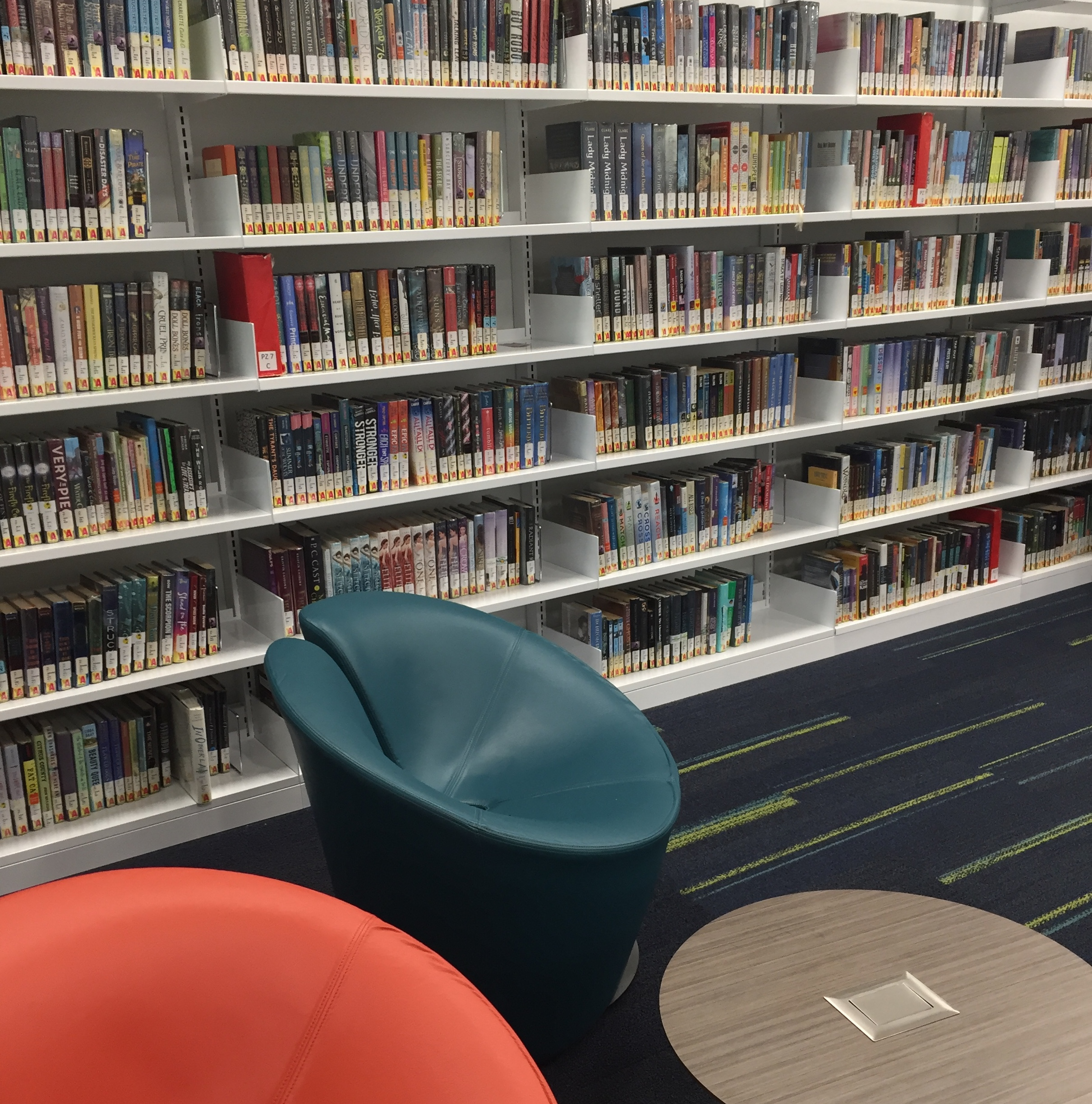 Young Adult books at SCF Library