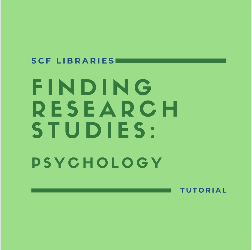 Finding research studies