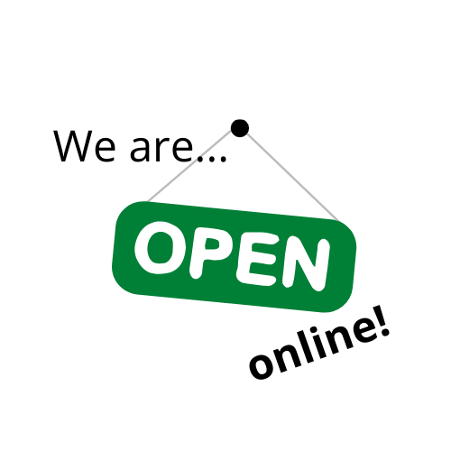 We are open online sign