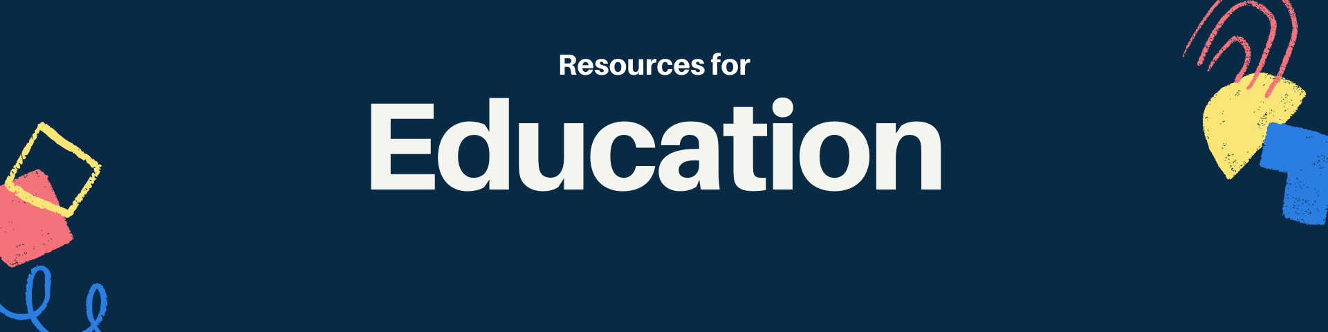 Resources for Education (header image)