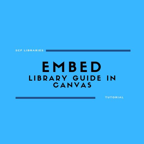 Embed library guide in Canvas
