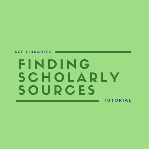 Finding scholarly sources