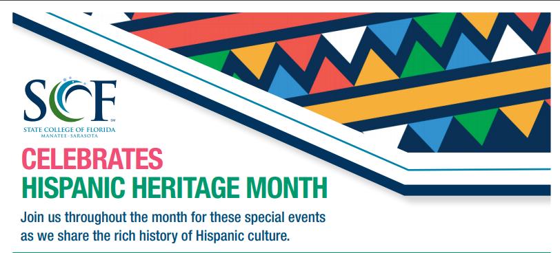Hispanic Heritage Month at SCF Banner
