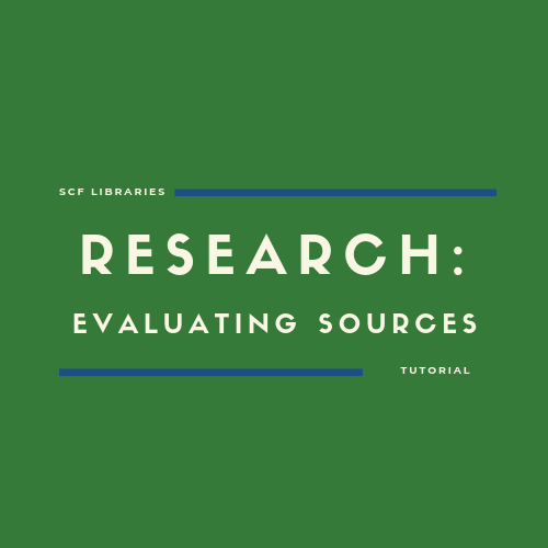 Research: Evaluating sources
