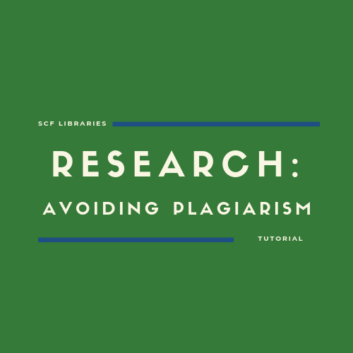 Research: Avoiding Plagiarism